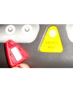 American Motion Fitness triangular safety key